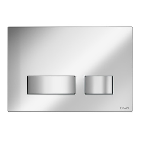 MOVI flush button chrome matt