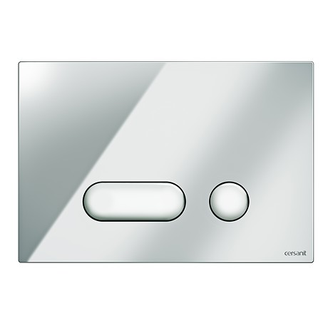 INTERA flush button chrome gloss