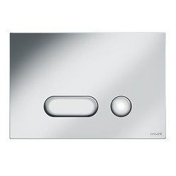INTERA flush button chrome matt
