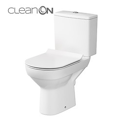 CITY 010 WC compact NEW CleanOn 601 with duroplast, antibacterial, soft-close and ...