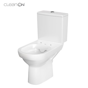 CITY 011 WC compact NEW CleanOn 601 with duroplast, antibacterial, soft-close and ...
