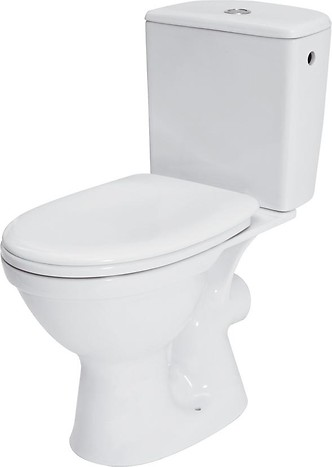 MERIDA 010 WC compact set with polypropylene, soft-close toilet seat