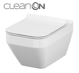CREA wall hung bowl CleanOn rectangular without toilet seat
