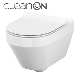 CREA wall hung bowl CleanOn oval with toilet seat