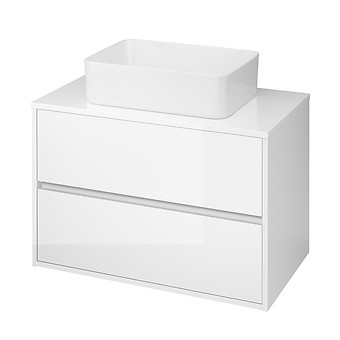 CREA 80 cabinet with countertop white