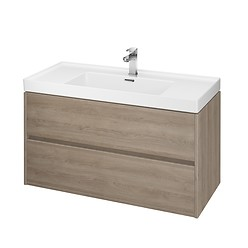 CREA 100 washbasin cabinet oak