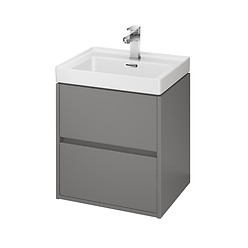 CREA 50 washbasin cabinet grey matt