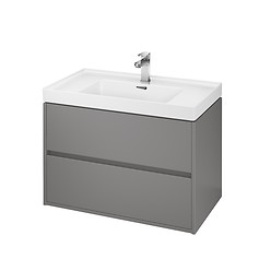 CREA 80 washbasin cabinet grey matt
