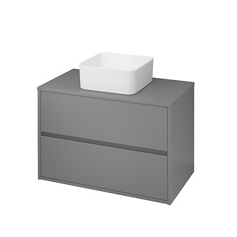 CREA 80 cabinet with countertop grey matt