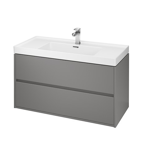 CREA 100 washbasin cabinet grey matt
