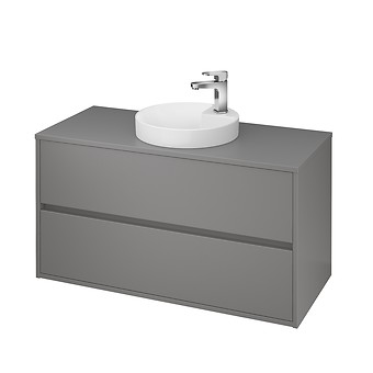 CREA 100 cabinet with countertop grey matt