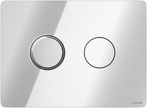 ACCENTO CIRCLE pneumatic flush button chrome gloss