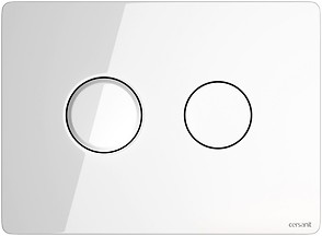 ACCENTO CIRCLE pneumatic flush button glass white