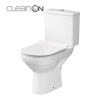 Set 603 WC compact CITY NEW CleanOn 010 3/5L, capac subțire, închidere lentă, ...
