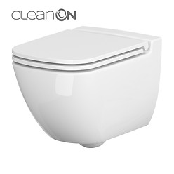 SET 741 WC SUSPENDAT CASPIA NEW CLEAN ON CU CAPAC SLIM CADERE LENTA DEMONTARE ...