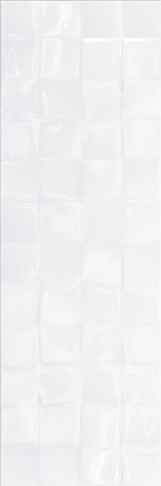 SIMPLE ART WHITE GLOSSY STRUCTURE CUBES 20X60