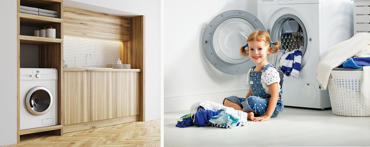 How To Allocate Space For A Washing Machine In The Bathroom